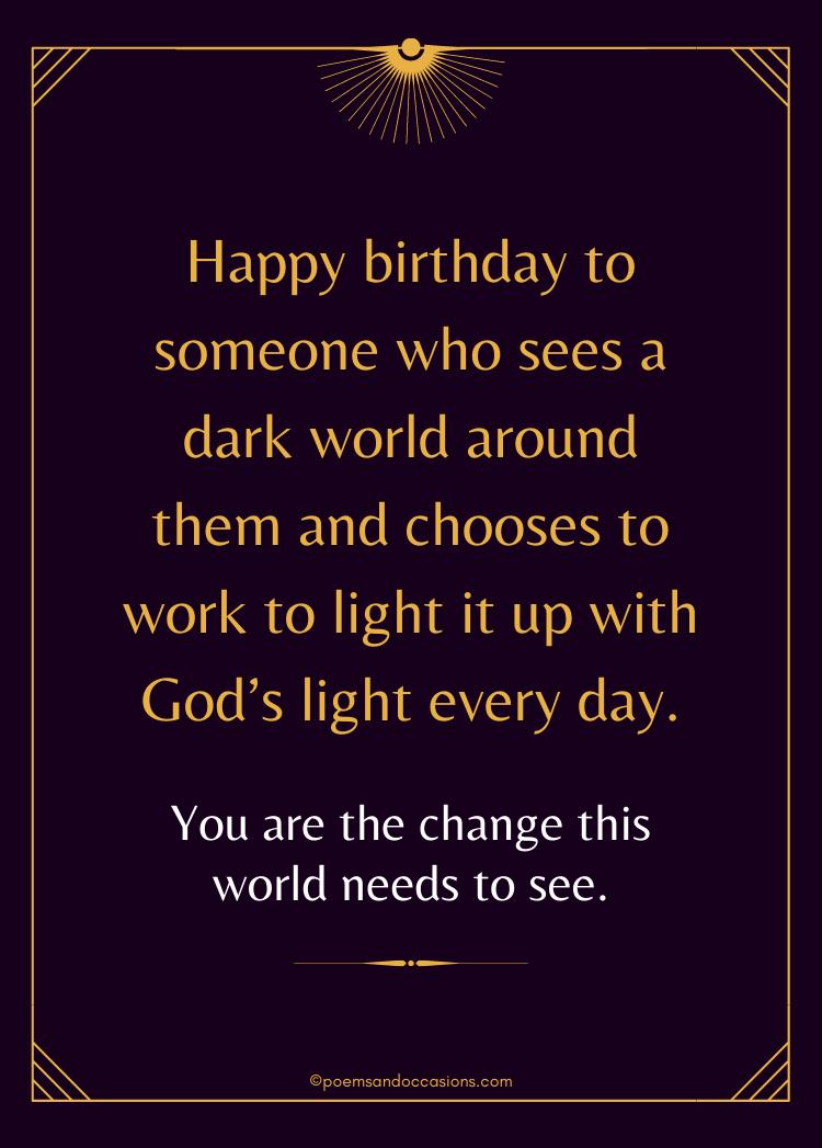 light the world with Gods light