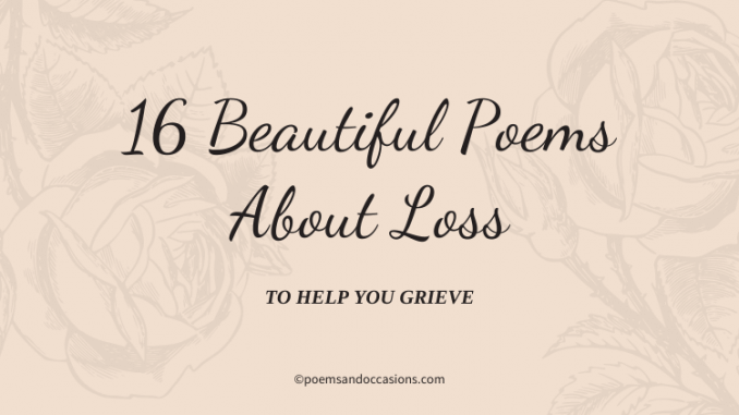 poems about loss