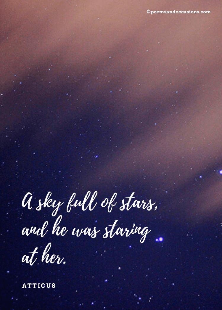 Beautiful sky full of stars