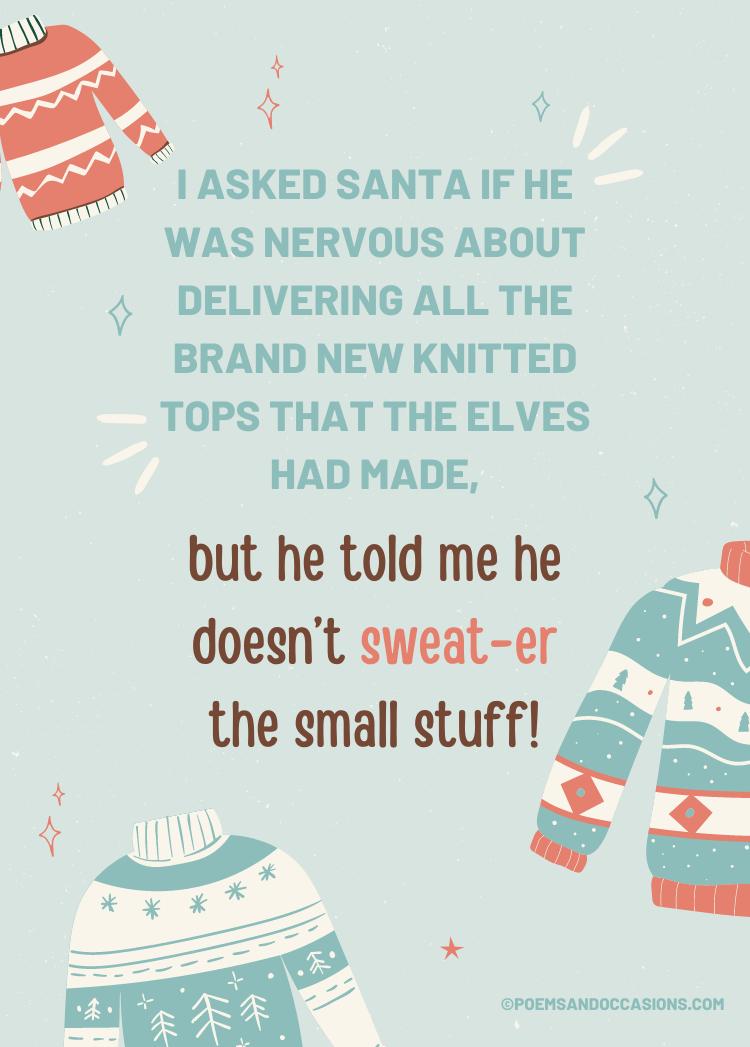 Christmas sweater puns