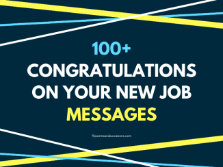 Congratulations On Your New Job Messages