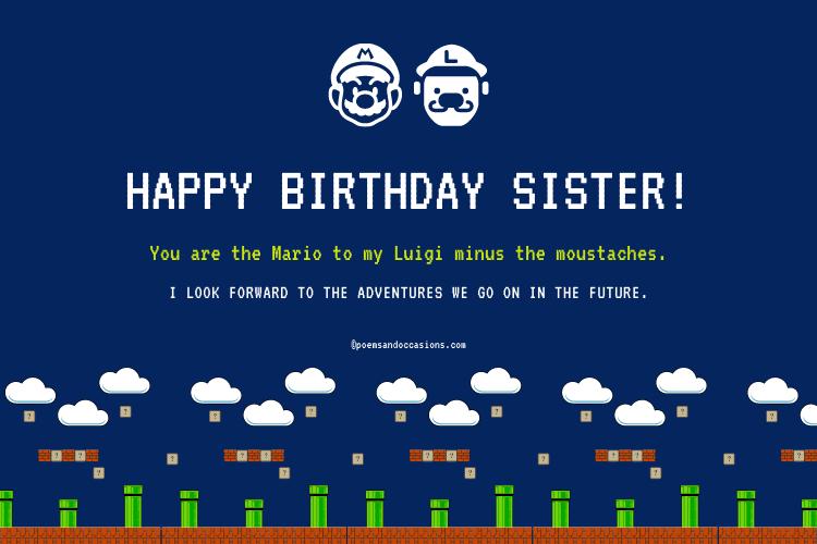 Cute Happy Birthday Sister