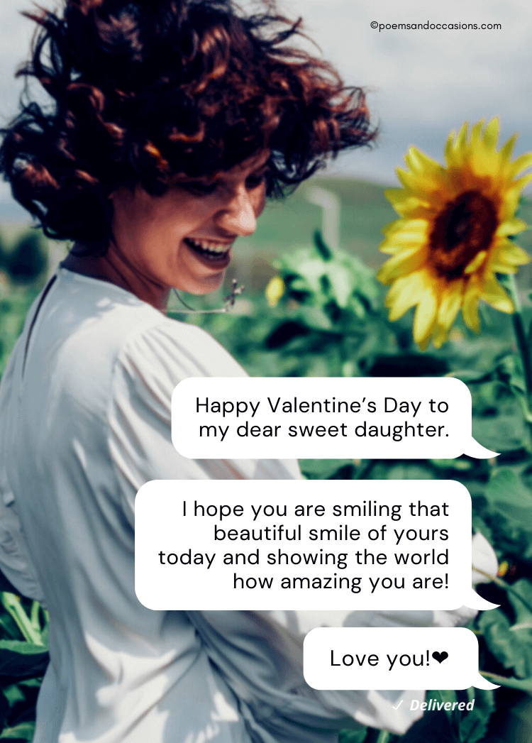 Happy Valentine's Day Daughter From Mom