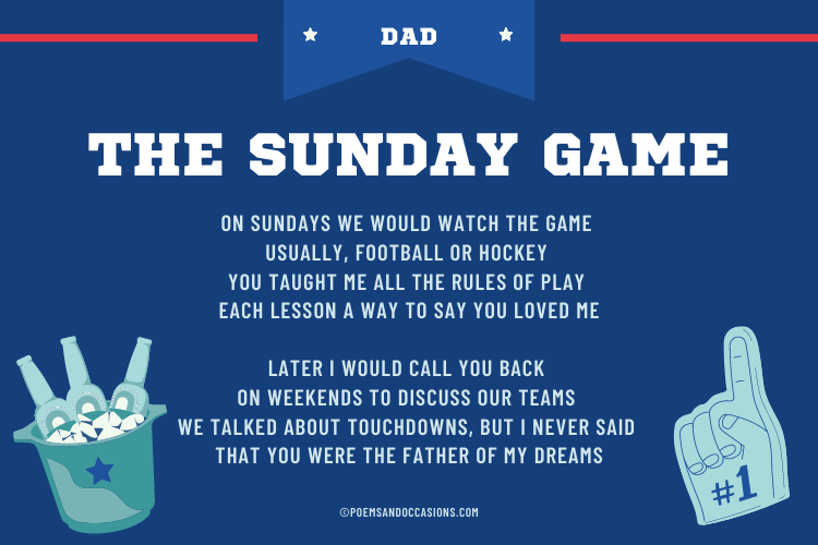 Sunday game with dad