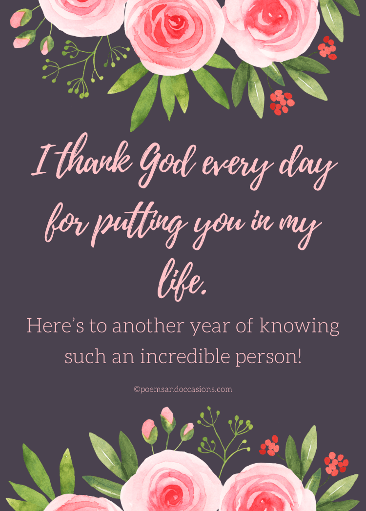 Thanking God for you