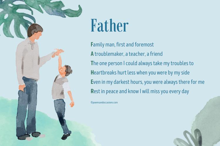 celebrating a father