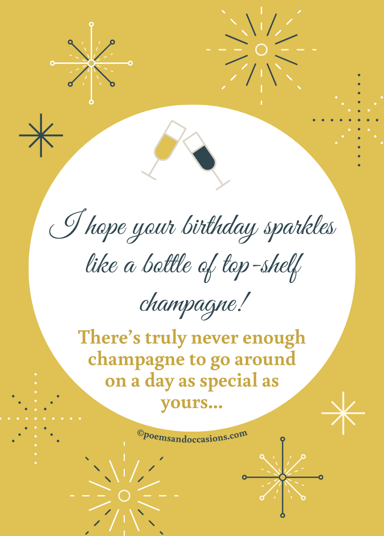 champagne on your birthday