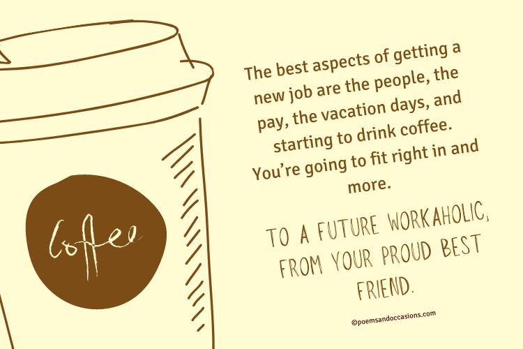 congratulation to a future workaholic