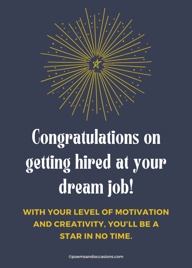 congratulations on your new dream job messages