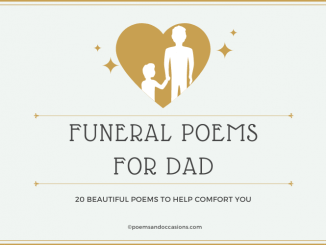 funeral poems for dad