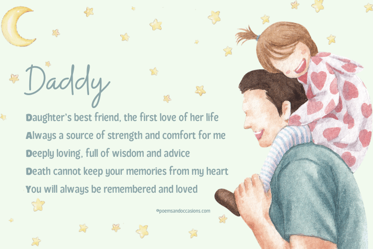 funeral poems for daddy
