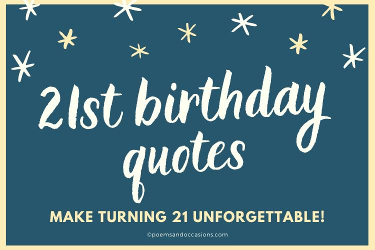 21st birthday quotes