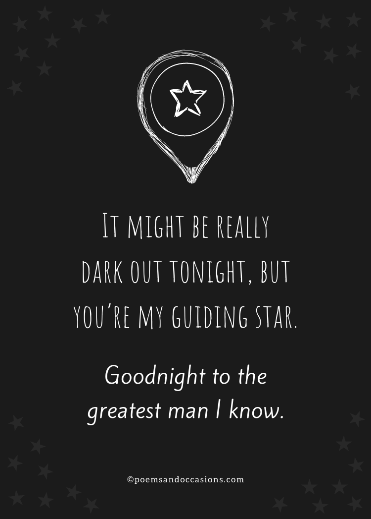 Goodnight message for your man