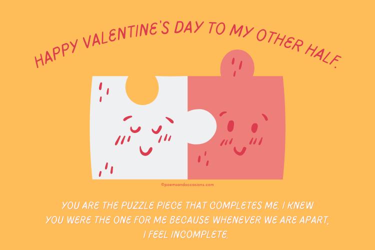 Happy Valentine's Day to my other half