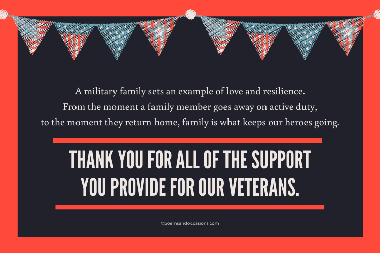 Thank You Veterans and Their Families