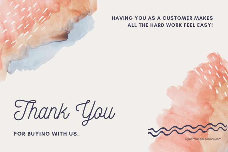 Thank you for buying with us