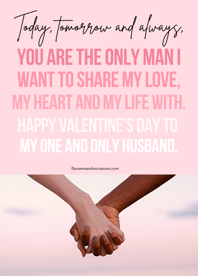 Valentine's Day Messages For Husband