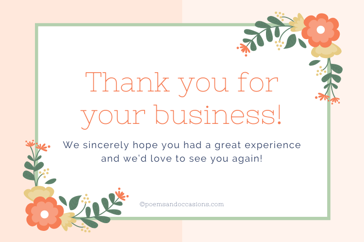 We hope you had a great experience