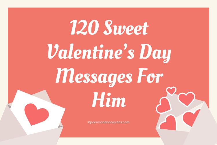 valentine day message for him