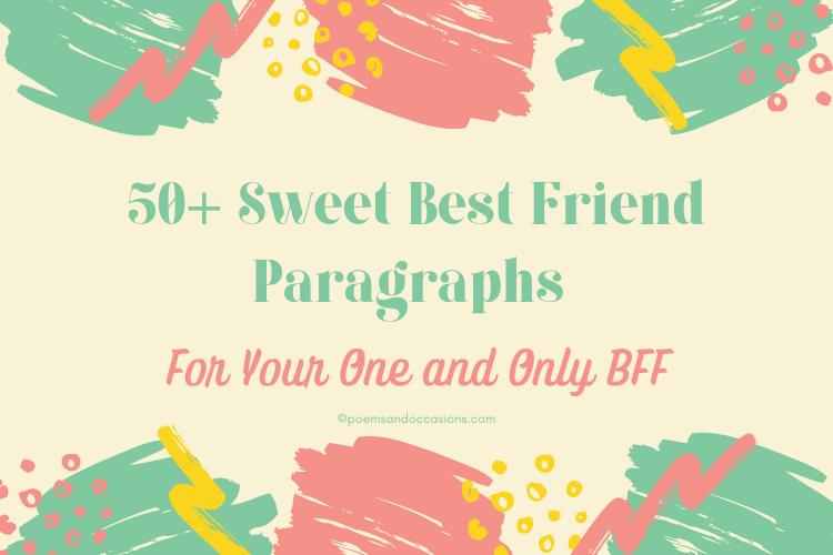 Best Friend Paragraphs