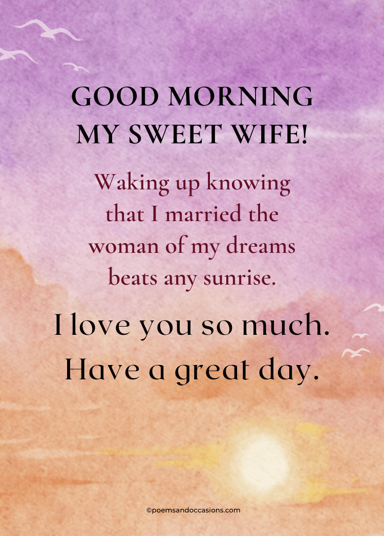 Good morning text for wife