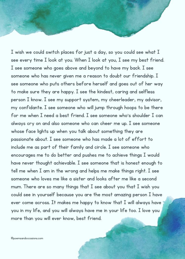 Long Best Friend Paragraphs