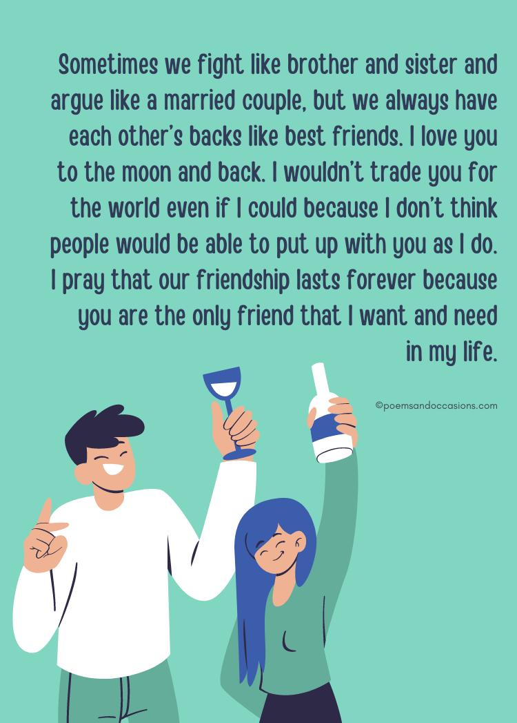 Paragraphs For Your Boy Best Friend