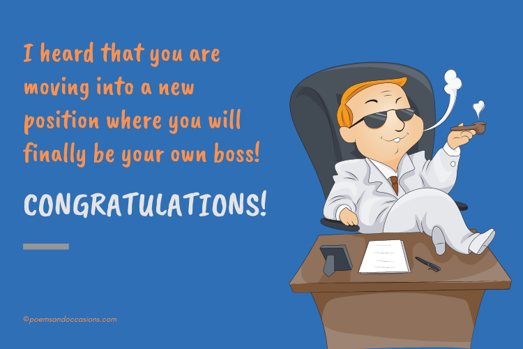 congratulations on being your own boss