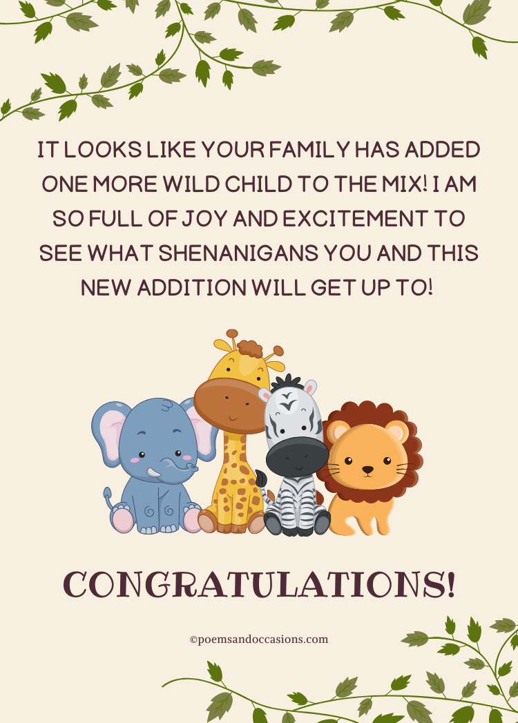 congratulations on the new baby