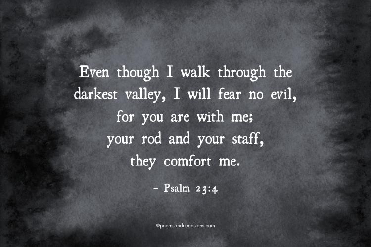 fear no evil bible verse