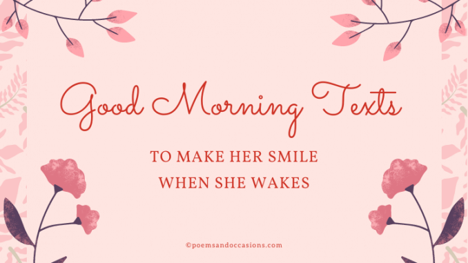 good morning text for her