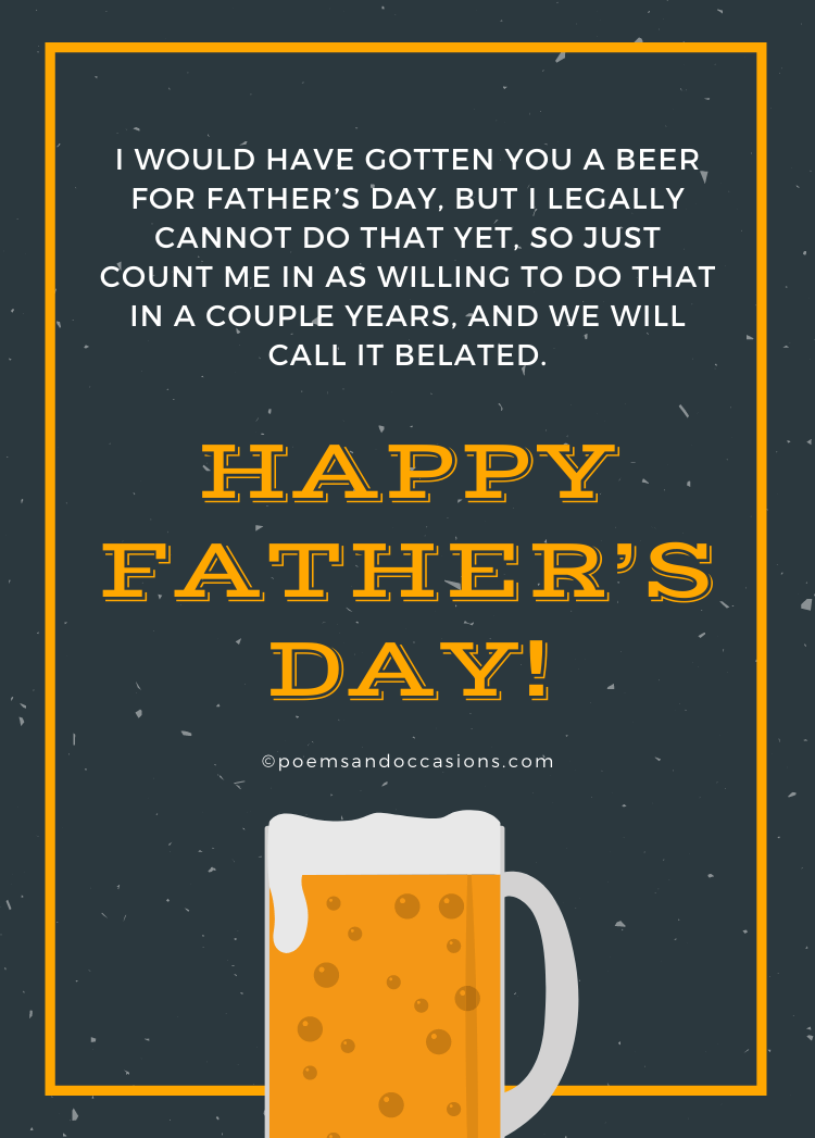 happy father's day beer