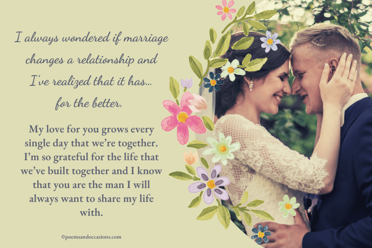 paragraph for husband