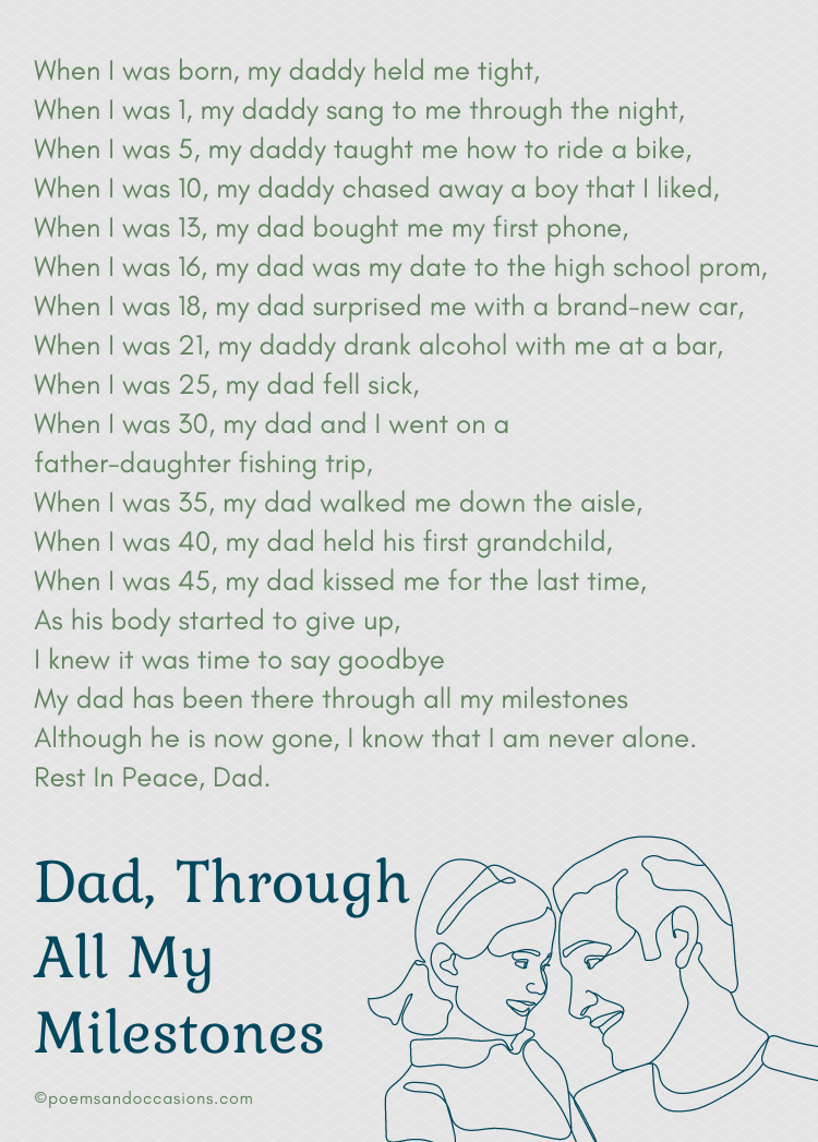 poems for dad's funeral