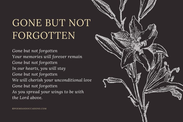 short poems for a funeral