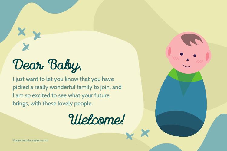 welcome dear baby
