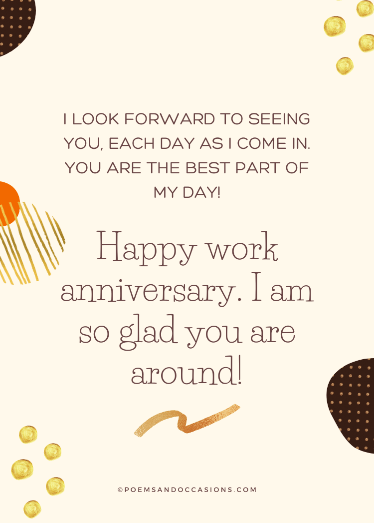 Happy Work Anniversary colleague
