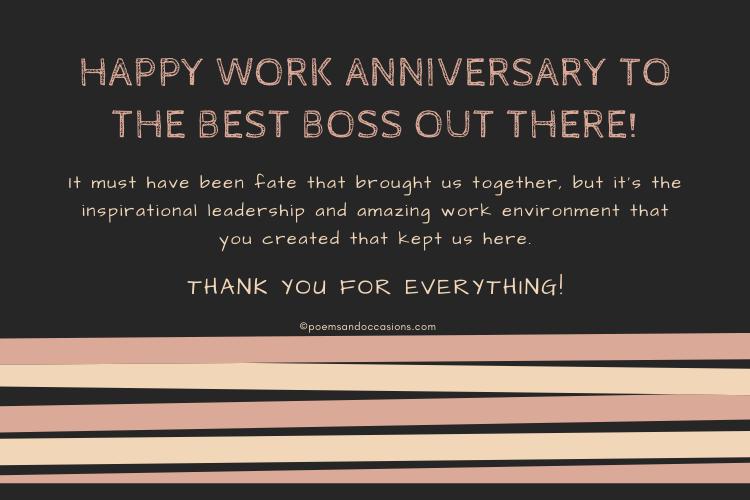 boss work anniversary message