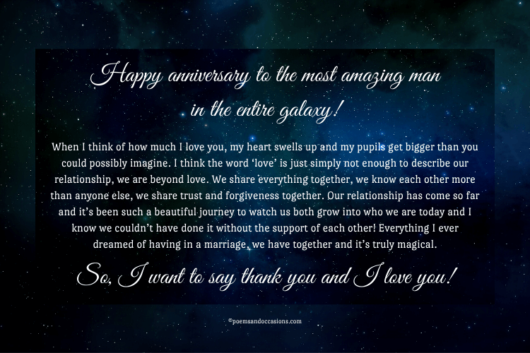 happy anniversary love letter for him
