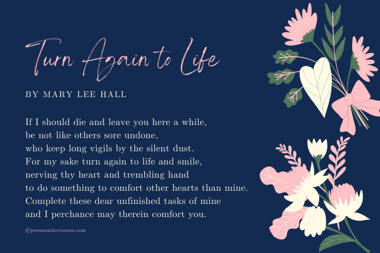 uplifting poems about death